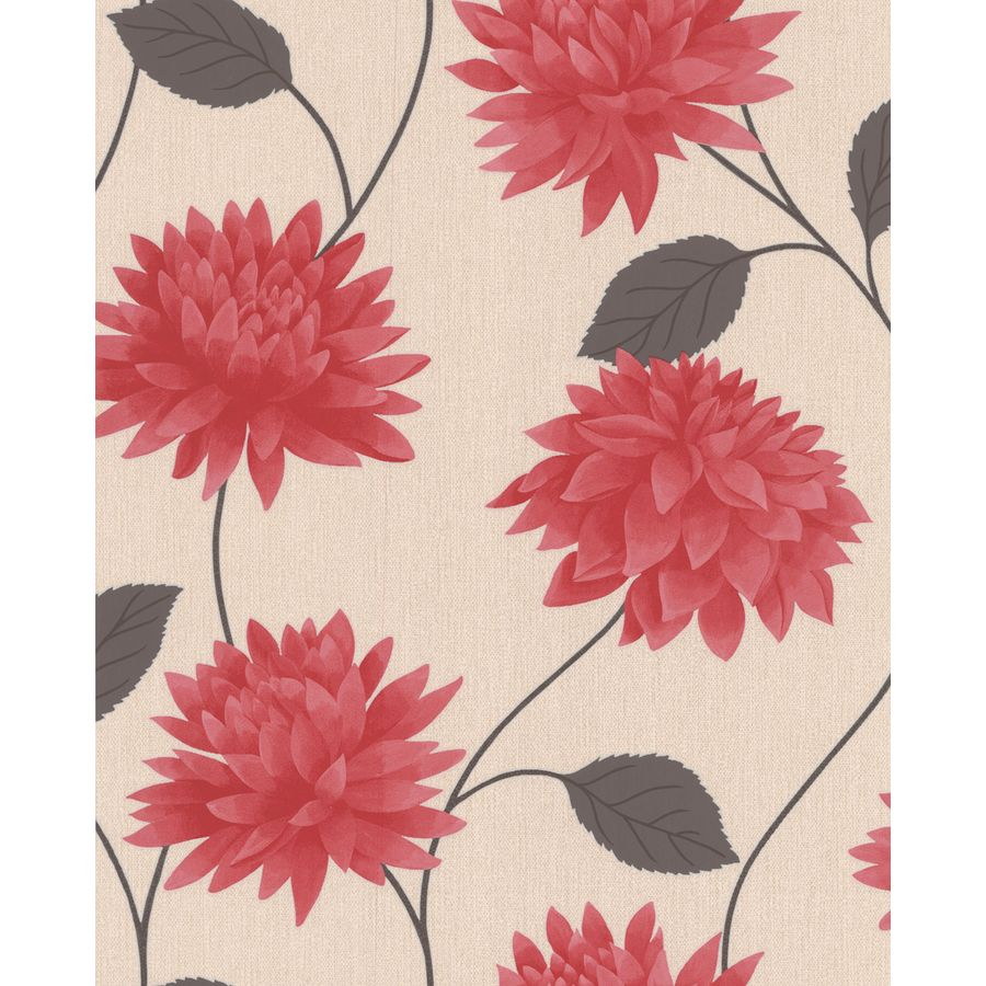 Superfresco Easy Red Paper Floral Wallpaper