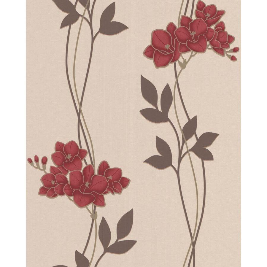 Superfresco Easy Red Paper Floral Stripe Wallpaper