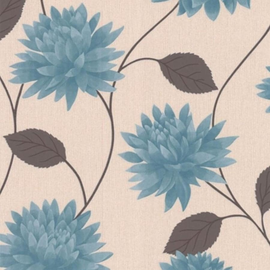 Superfresco Easy Teal Paper Floral Wallpaper