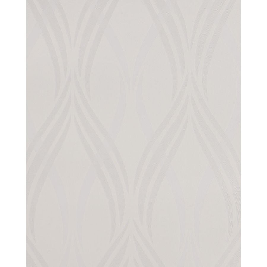 Superfresco Easy Serenity White Vinyl Textured Geometric Wallpaper