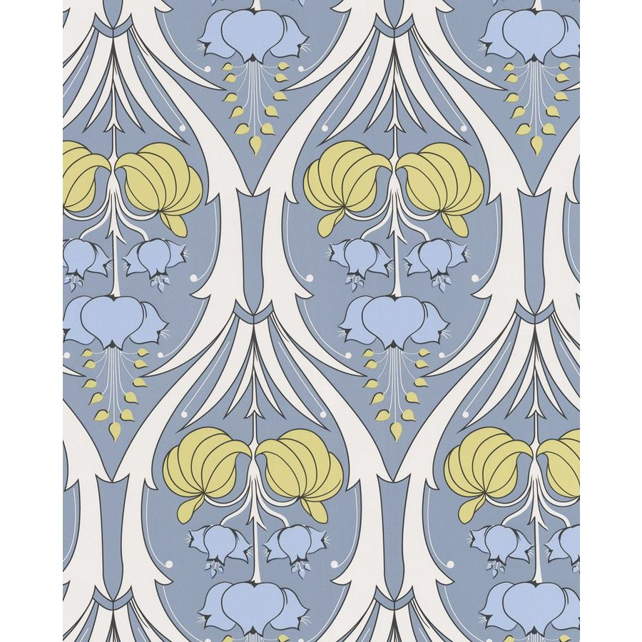 Graham & Brown Blue Paper Floral Wallpaper