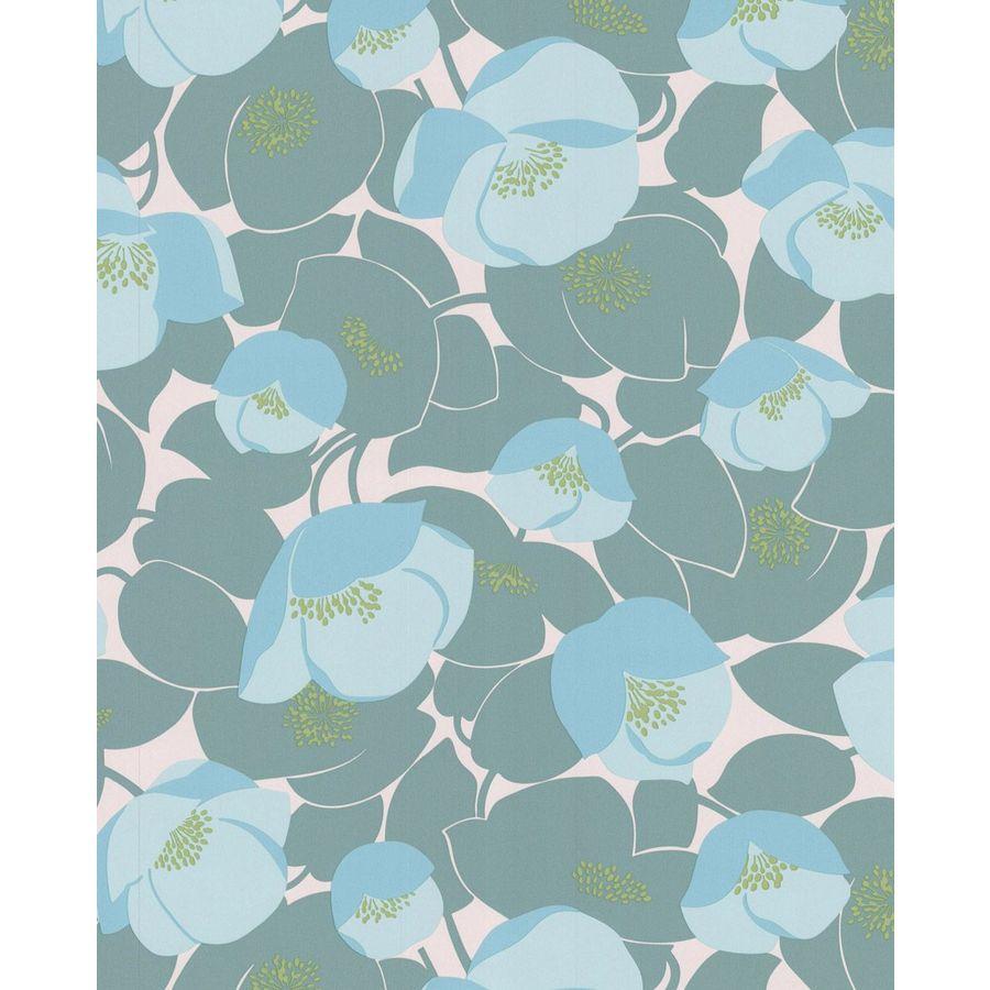 Graham & Brown Teal Paper Floral Wallpaper