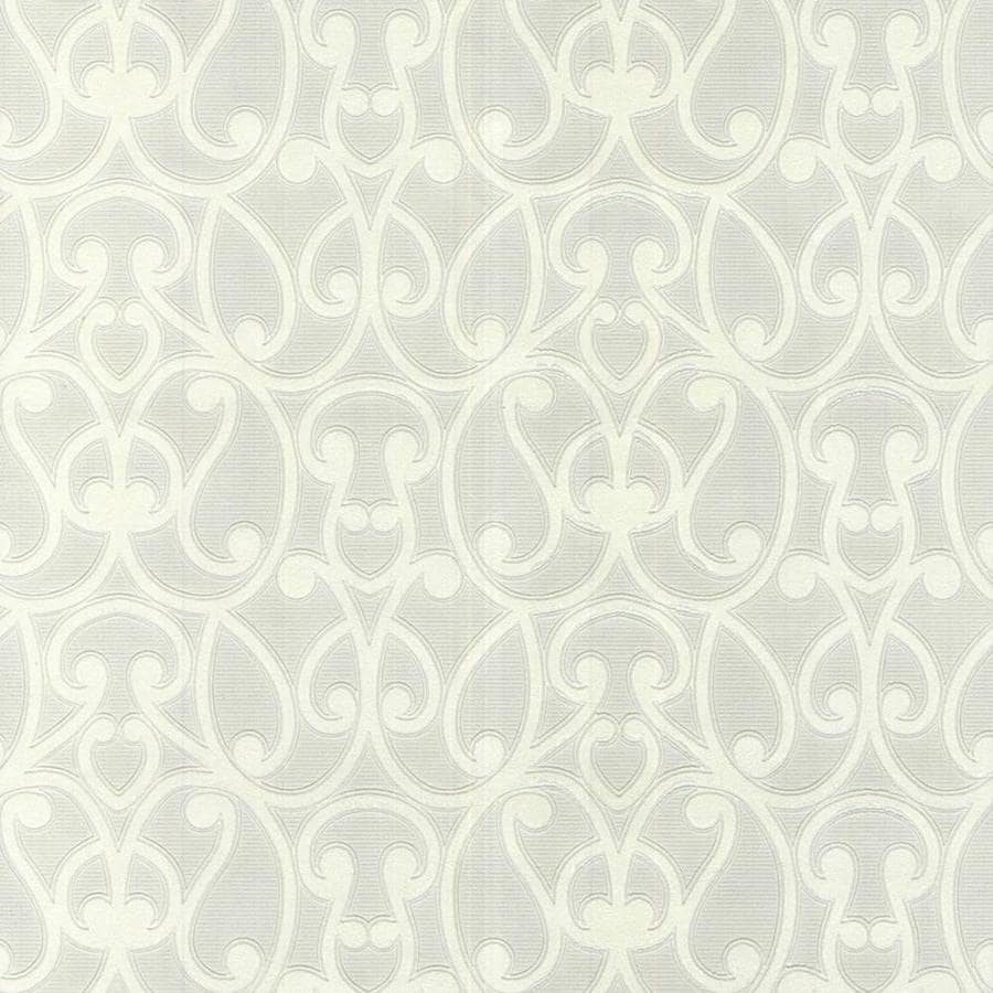Graham U0026 Brown Eclectic White Vinyl Paintable Textured Scroll Wallpaper