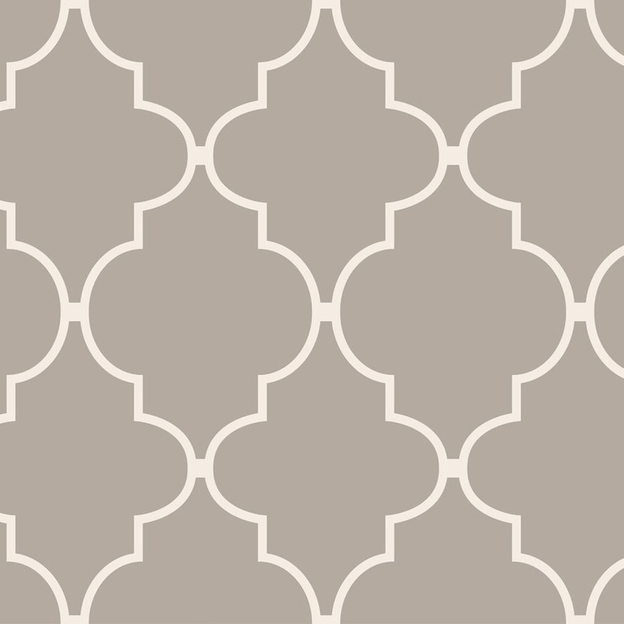 allen + roth Taupe Vinyl Geometric Wallpaper