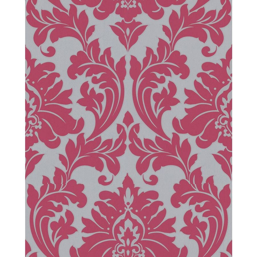 Superfresco Easy Majestic Pink Vinyl Textured Damask Wallpaper