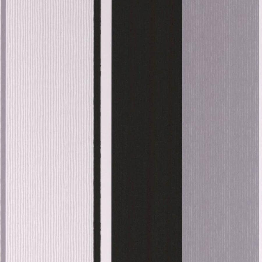 Superfresco Easy Majestic Black Vinyl Textured Stripes Wallpaper