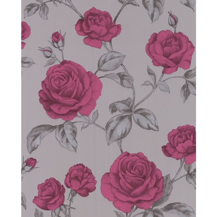 Shop Graham & Brown Purple Paper Floral Wallpaper At Lowes.com