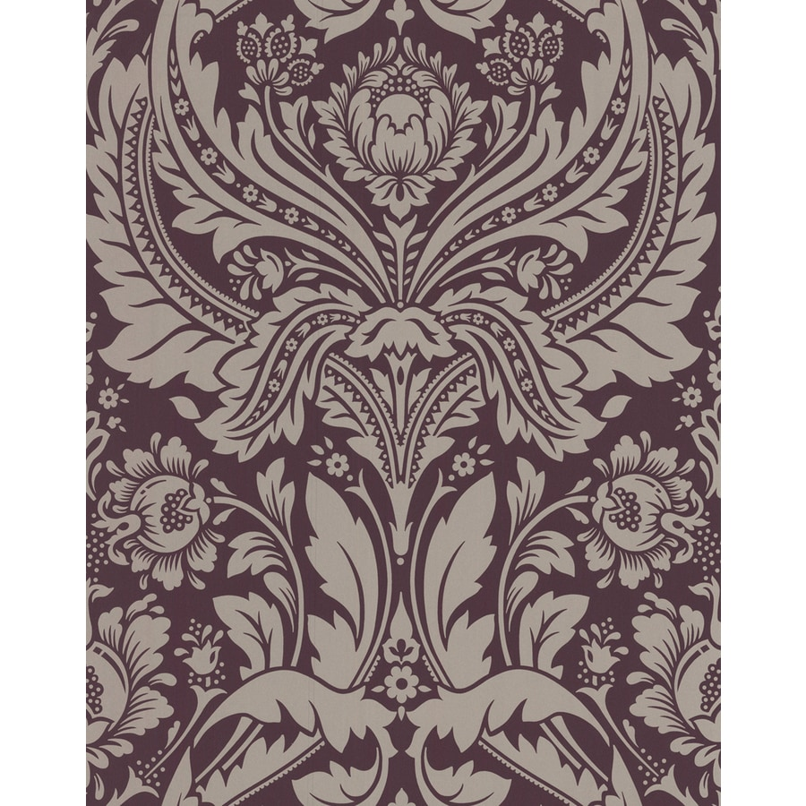 Graham & Brown Spirit Purple/Gold Paper Damask Wallpaper