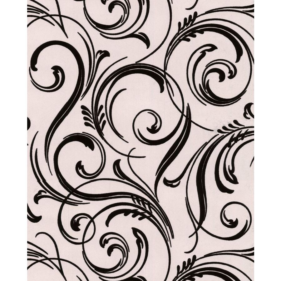 Graham & Brown Laurence Llewelyn-Bowen Black Flock Textured Abstract Wallpaper