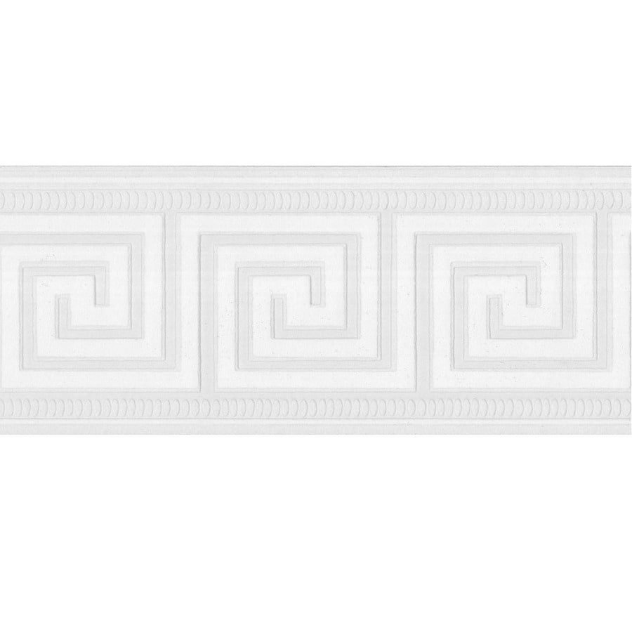 Style Selections 4 5 In White Prepasted Wallpaper Border
