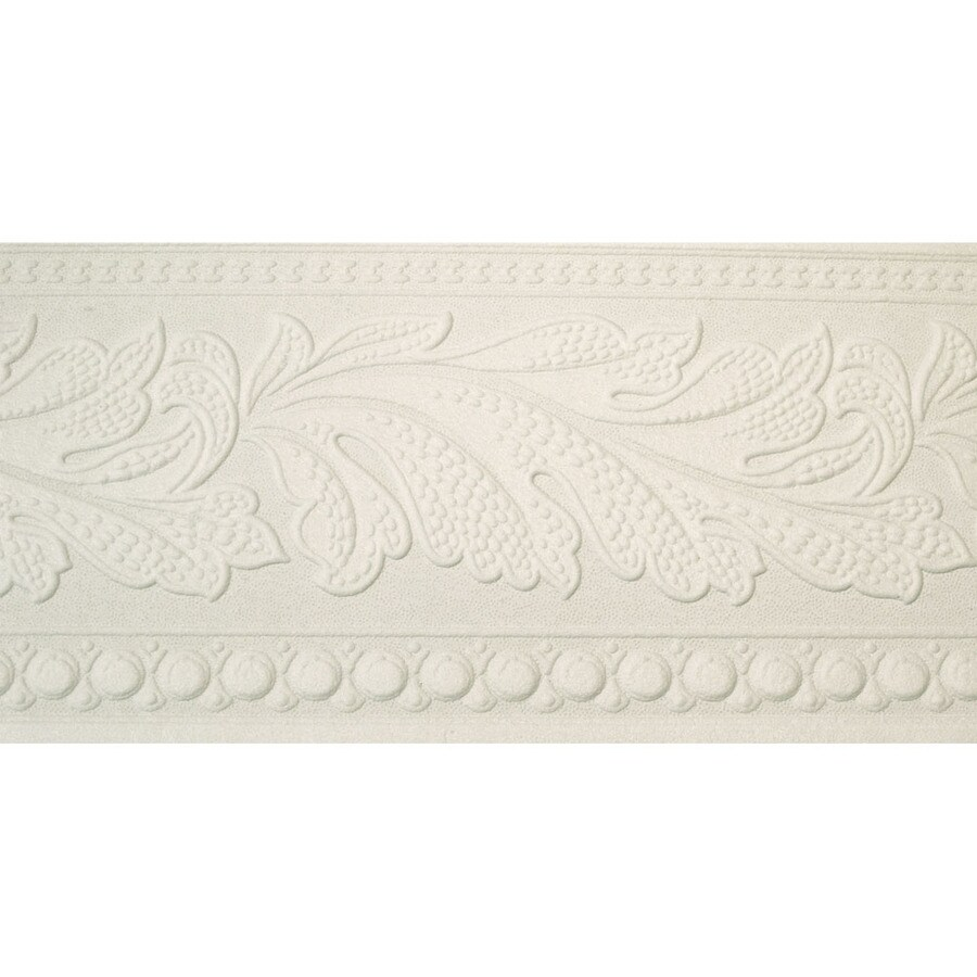 Style Selections 5.25 In White Prepasted Wallpaper Border