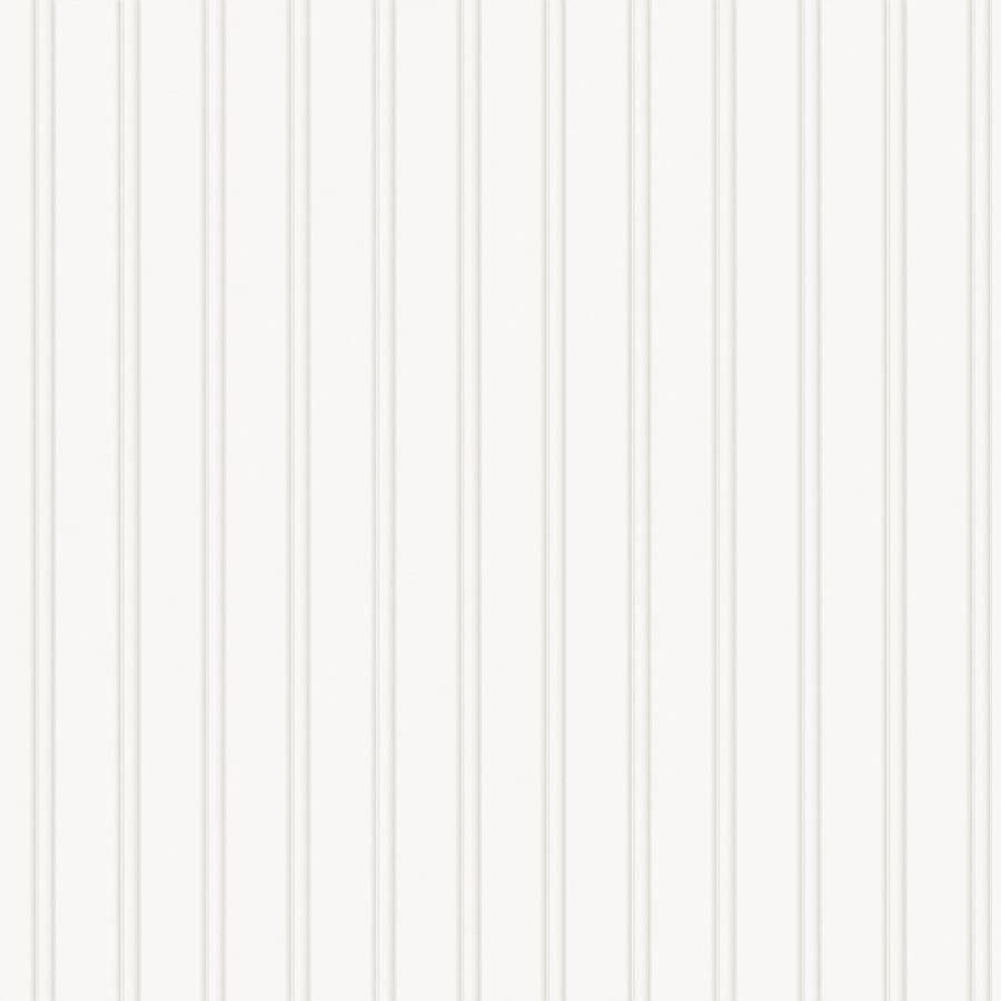 Allen Roth White Paper Paintable Stripes Wallpaper