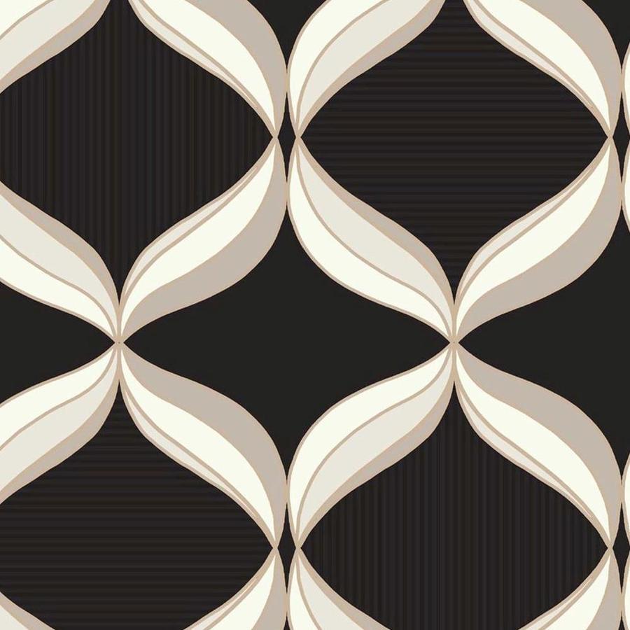 Graham & Brown Classics Cream/Graphite Vinyl Textured Geometric Wallpaper