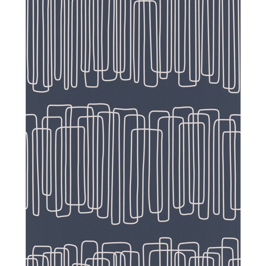 Graham & Brown Hemingway Blue Paper Geometric Wallpaper