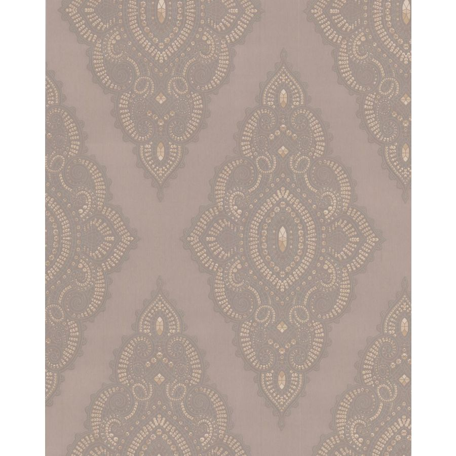 Graham & Brown Julien Macdonald Beige Vinyl Textured Geometric Wallpaper