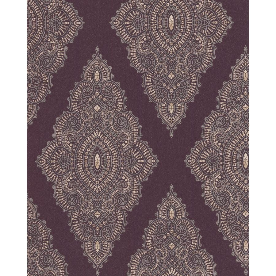 Graham & Brown Purple Paper Geometric Wallpaper