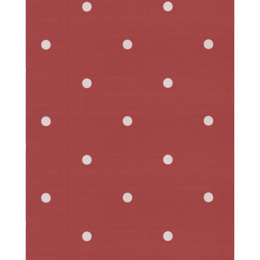 Contour Red Vinyl Geometric Wallpaper