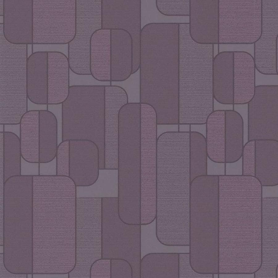 Graham & Brown Inference Plum Vinyl Textured Geometric Wallpaper
