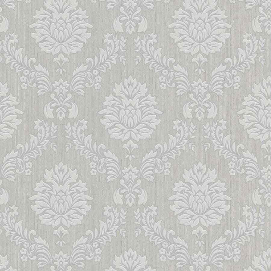 Shop graham brown hermitage grey white vinyl textured for Gray vinyl wallpaper