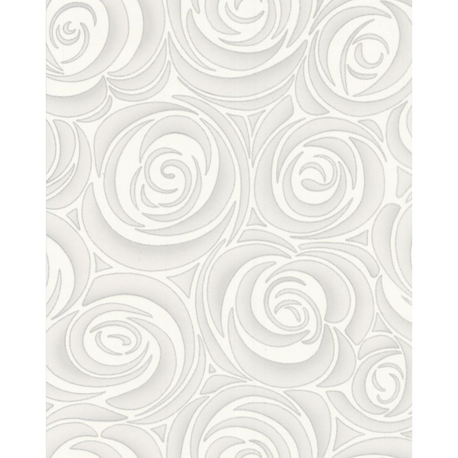 Graham & Brown Hermitage White Vinyl Textured Floral Wallpaper