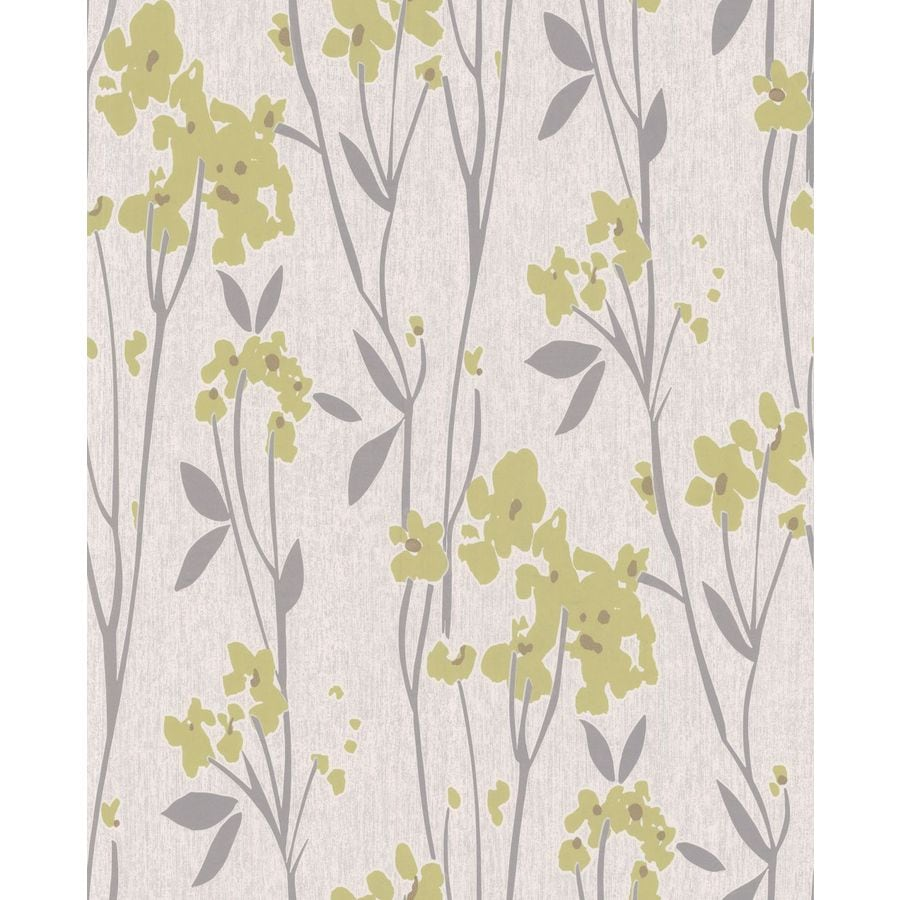 Superfresco Easy Element Green Vinyl Textured Floral Wallpaper