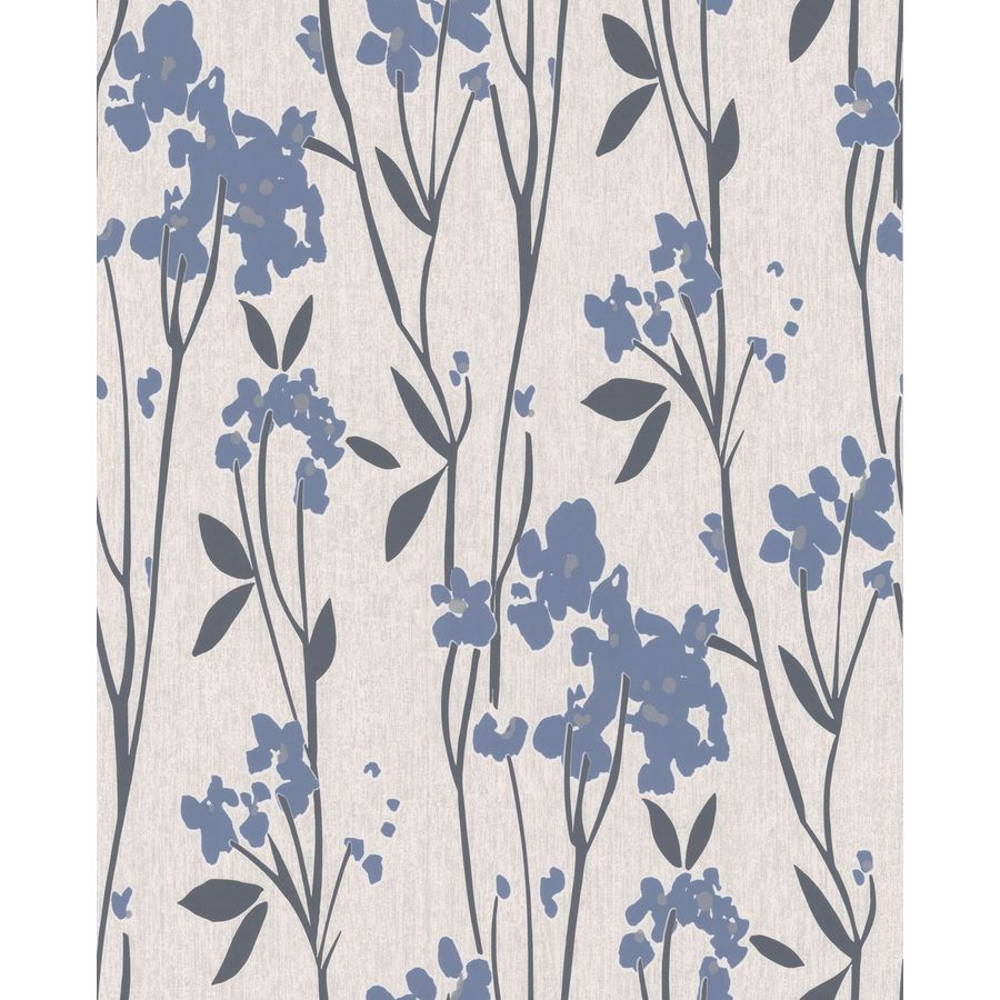 Superfresco Easy Element Blue Vinyl Textured Floral Wallpaper