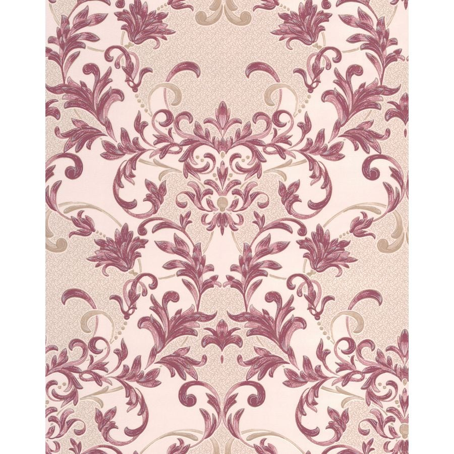 Superfresco Renaissance Ruby Vinyl Textured Damask Wallpaper