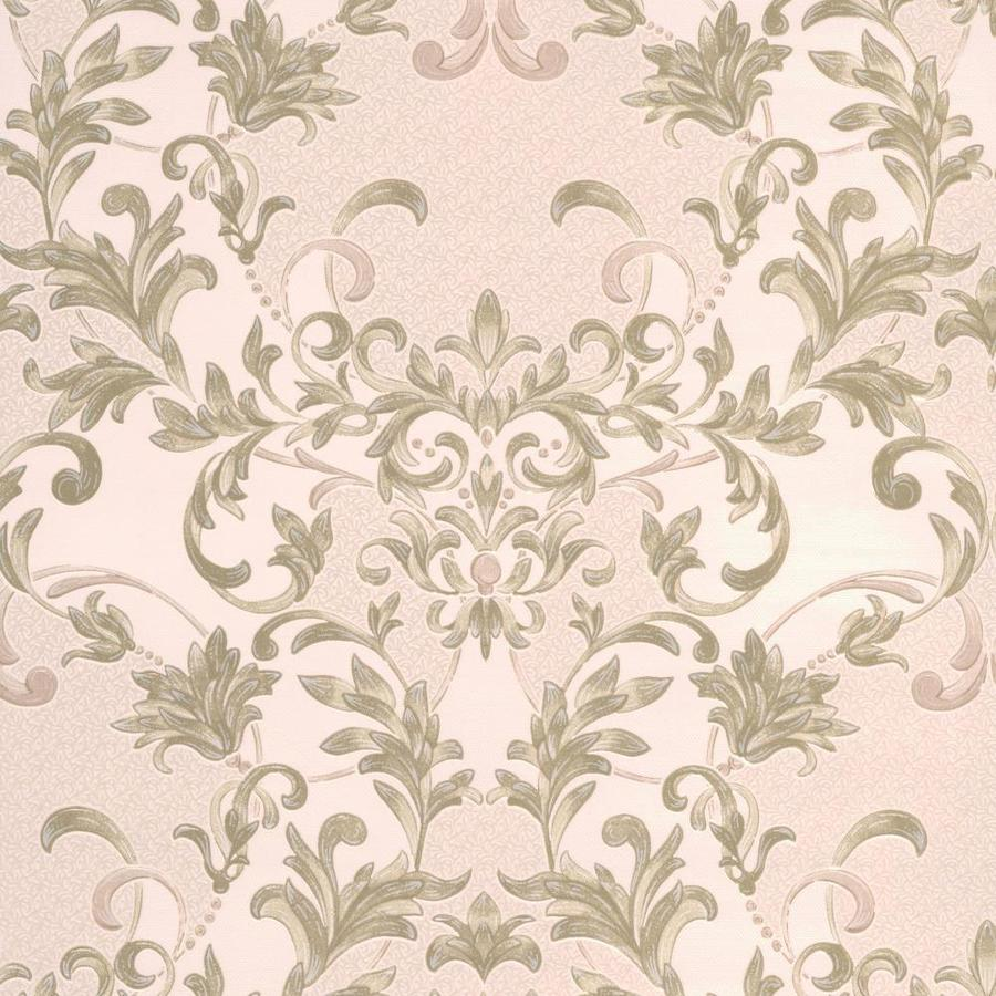Graham & Brown Renaissance Soft Green Vinyl Textured Damask Wallpaper