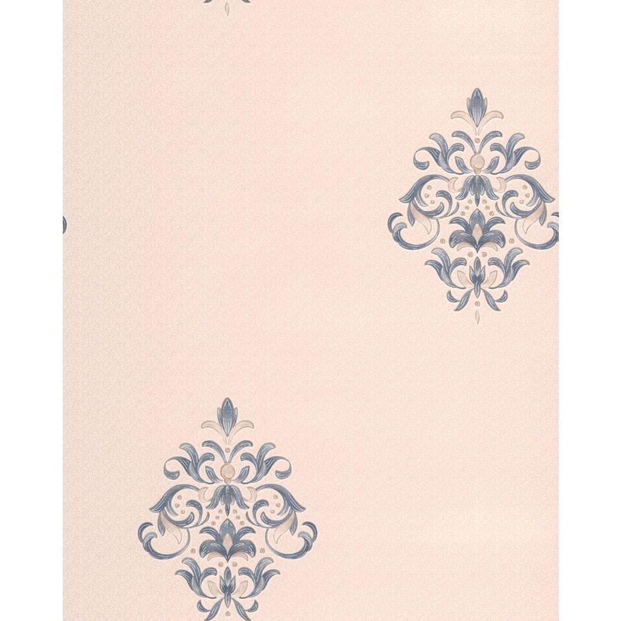Graham & Brown Renaissance Sapphire/Cream Vinyl Textured Damask Wallpaper