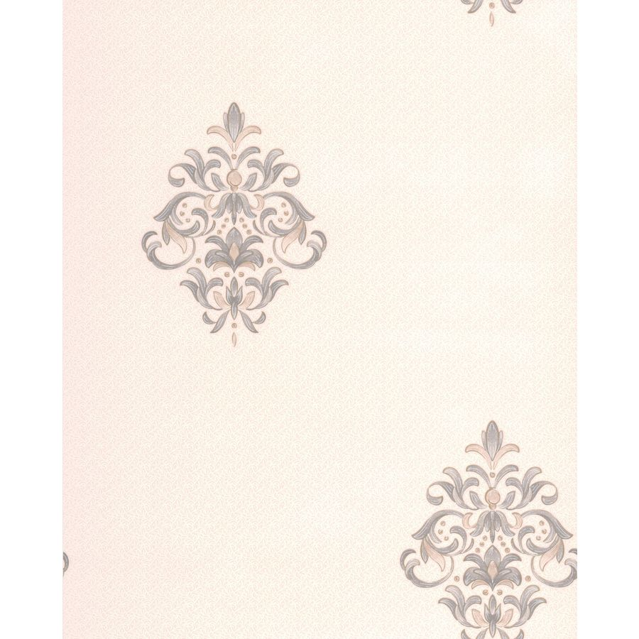 Superfresco Renaissance Dove/Cream Vinyl Textured Damask Wallpaper