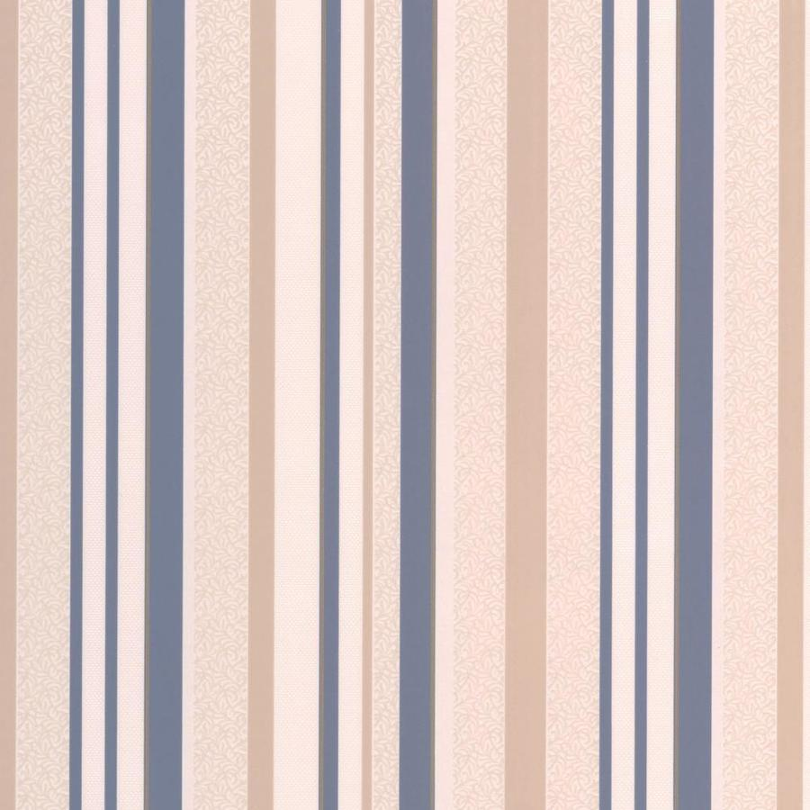 Graham & Brown Renaissance 56-sq ft Sapphire/Cream Vinyl Textured Stripes Wallpaper