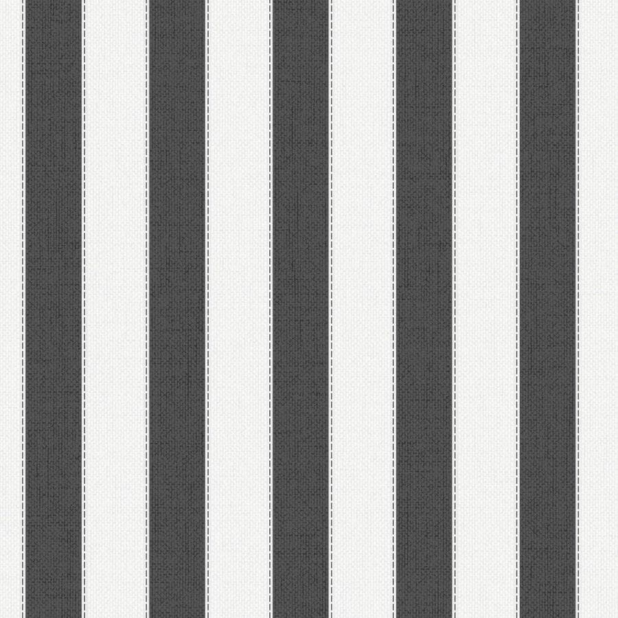 Graham & Brown Fabric Charcoal/White Vinyl Textured Stripes Wallpaper