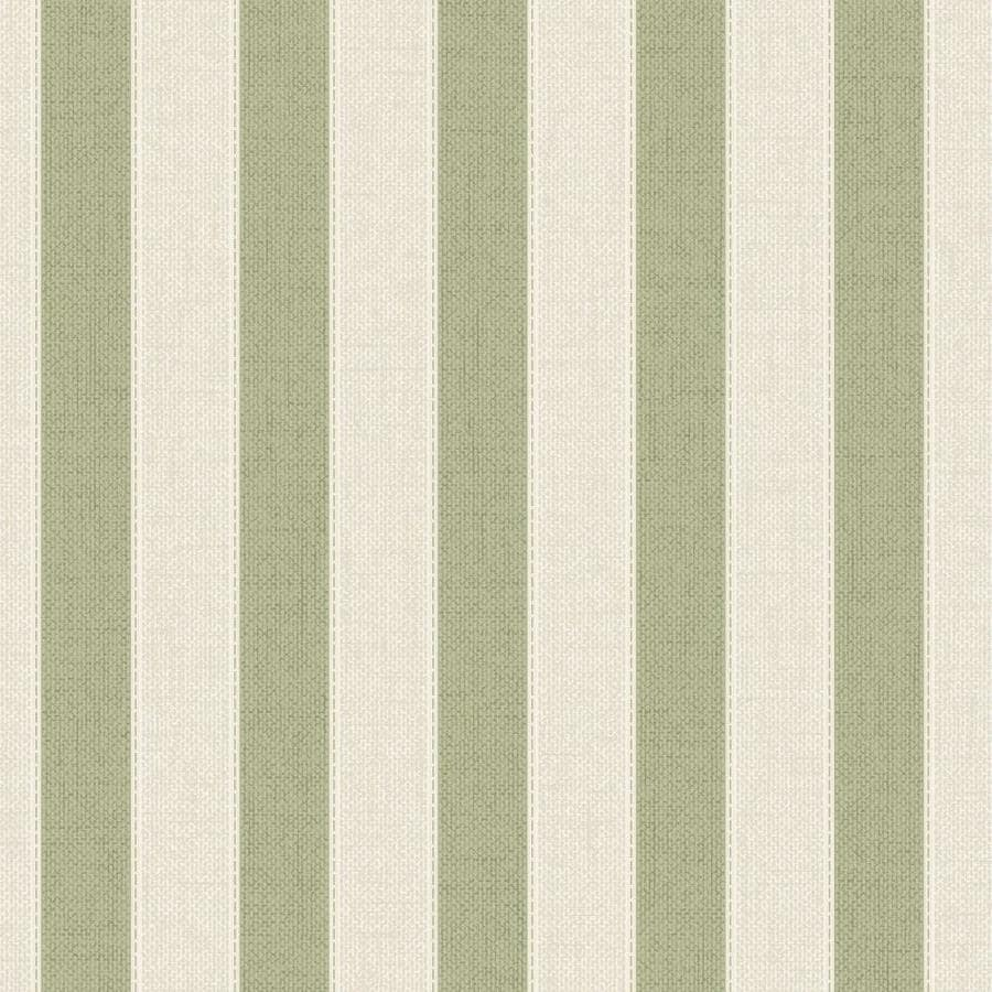 Graham & Brown Fabric Spring Green Vinyl Textured Stripes Wallpaper