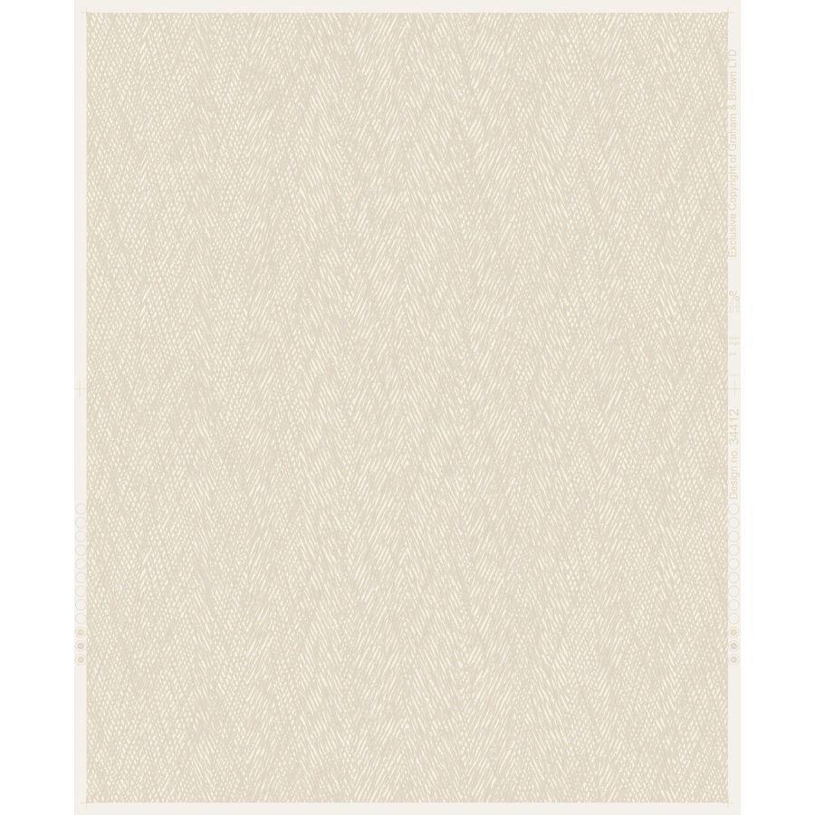 Graham & Brown Fabric Sand Vinyl Textured Solid Wallpaper