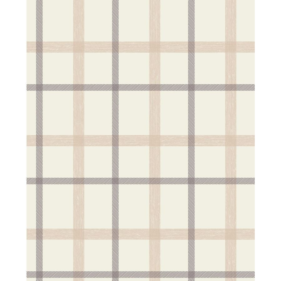 Graham & Brown Fabric Sand Vinyl Textured Plaid Wallpaper