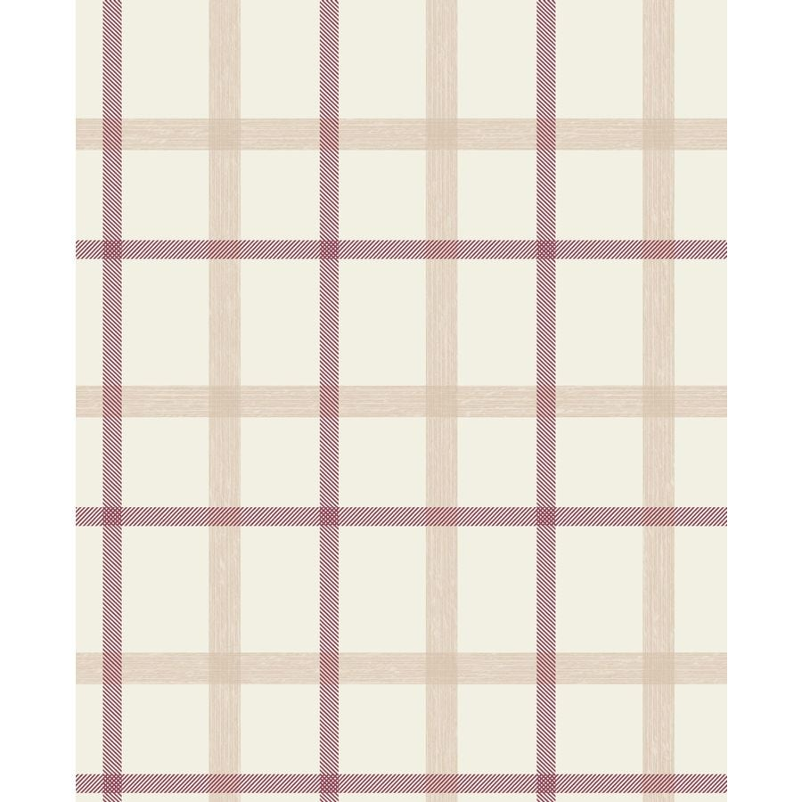 Graham & Brown Fabric Russet Vinyl Textured Plaid Wallpaper
