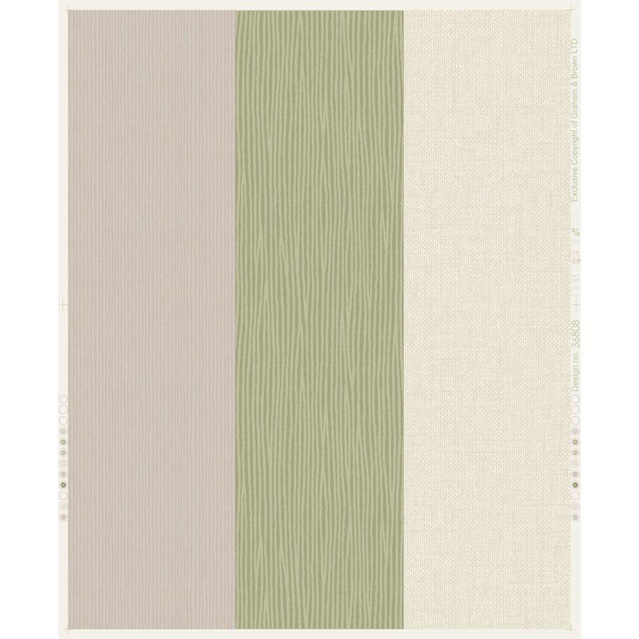 Superfresco Fabric Spring Green/Beige Vinyl Textured Stripes Wallpaper