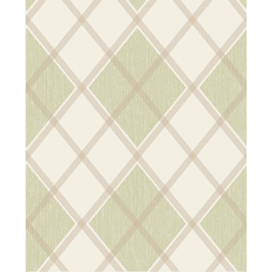 Superfresco Fabric Spring Green Vinyl Textured Plaid Wallpaper