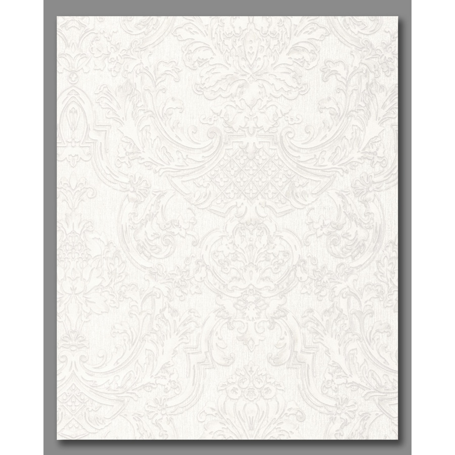 Graham & Brown Verona Pearl Vinyl Textured Damask Wallpaper