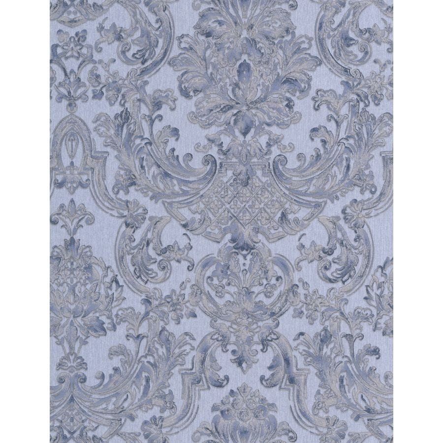 Graham & Brown Blue Paper Damask Wallpaper