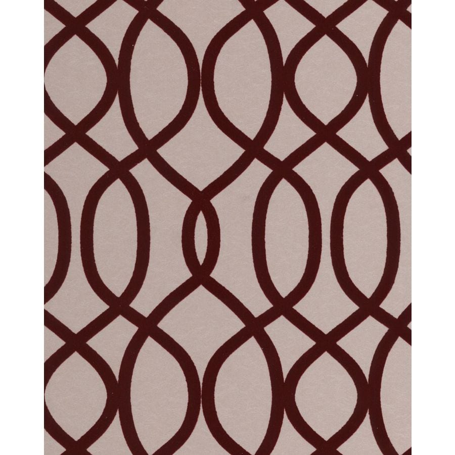 Graham & Brown Kelly Hoppen Russet Flock Textured Geometric Wallpaper