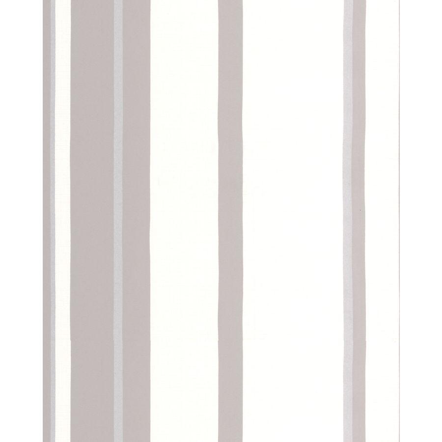 Graham & Brown Kelly Hoppen White/Grey/Silver Vinyl Textured Stripes Wallpaper