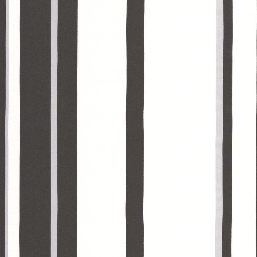 Graham & Brown Black/White/Silver Paper Stripes Wallpaper