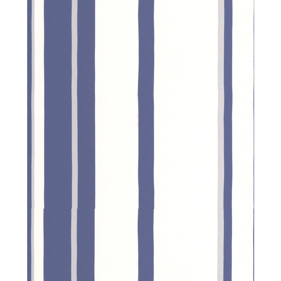 Shop graham brown white prussian blue paper stripes for Wallpaper lowe s home improvement