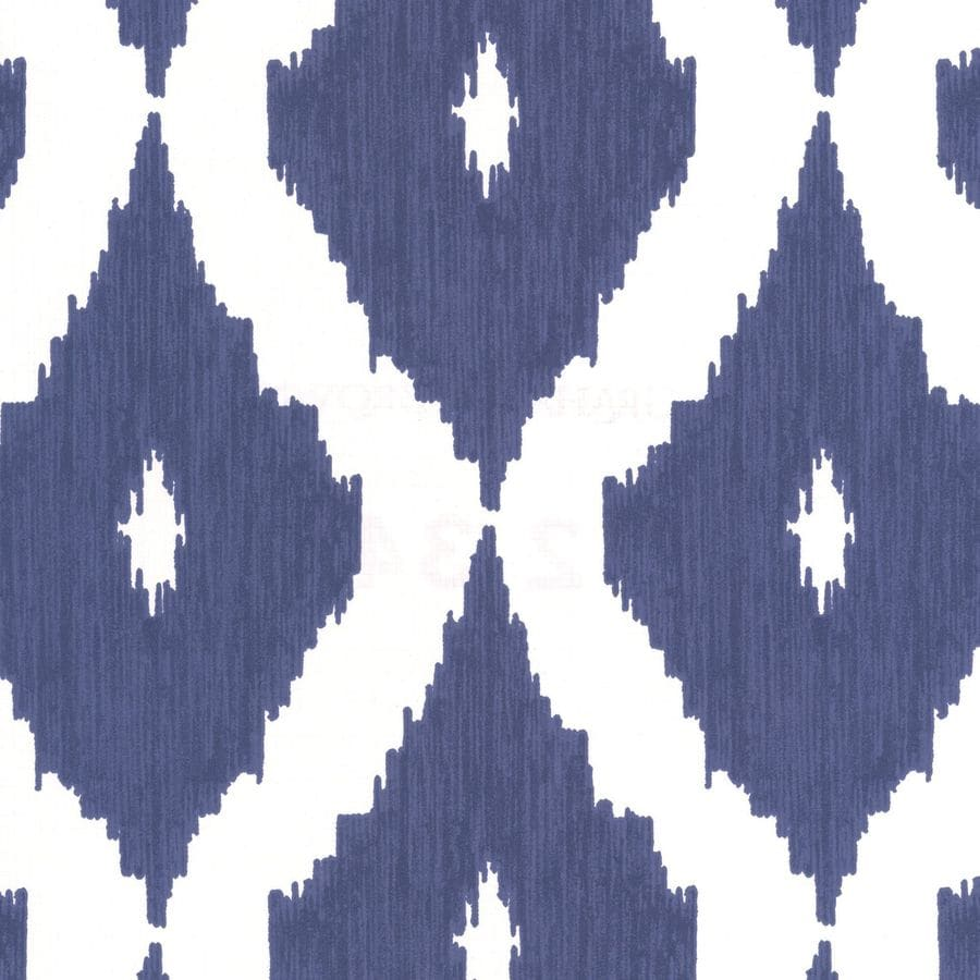 Graham & Brown Kelly Hoppen Prussian Blue/White Vinyl Textured Geometric Wallpaper