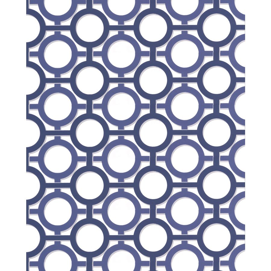 Graham & Brown Prussian Blue/White Paper Geometric Wallpaper