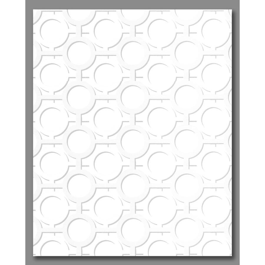 Graham & Brown Kelly Hoppen Ice White Vinyl Textured Geometric Wallpaper
