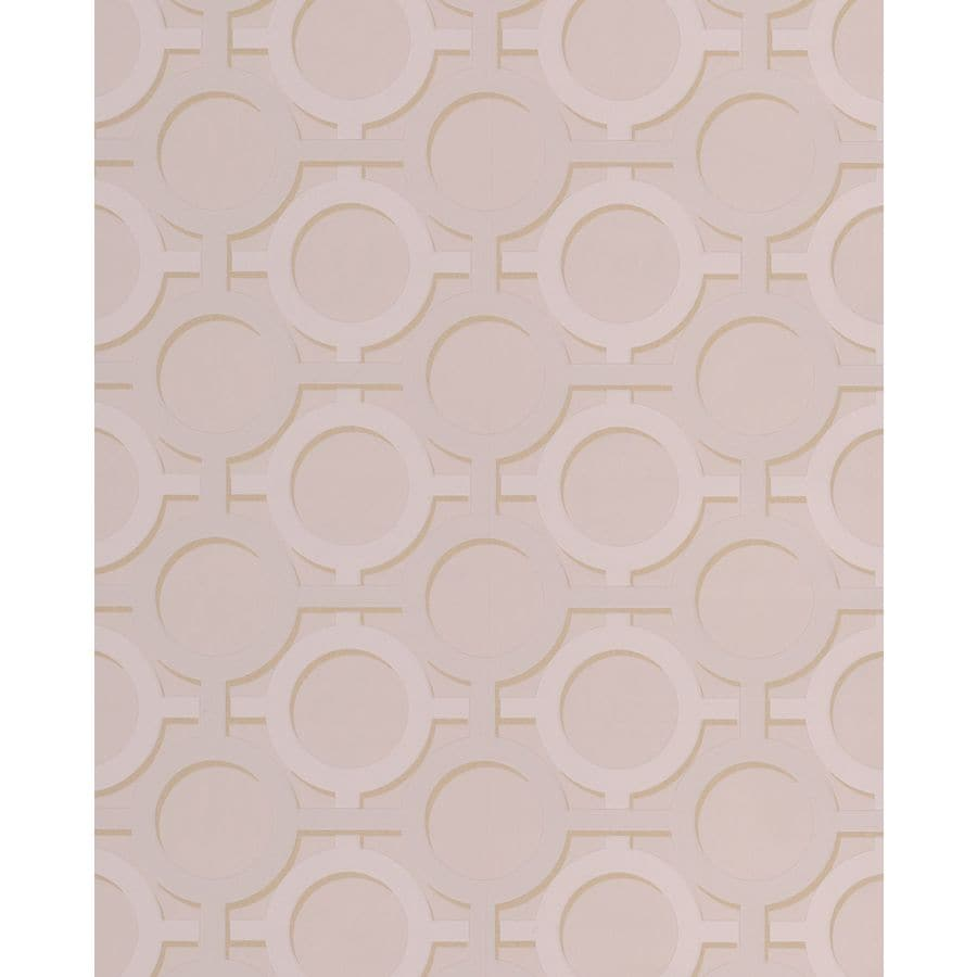Graham & Brown Kelly Hoppen Taupe Vinyl Textured Geometric Wallpaper