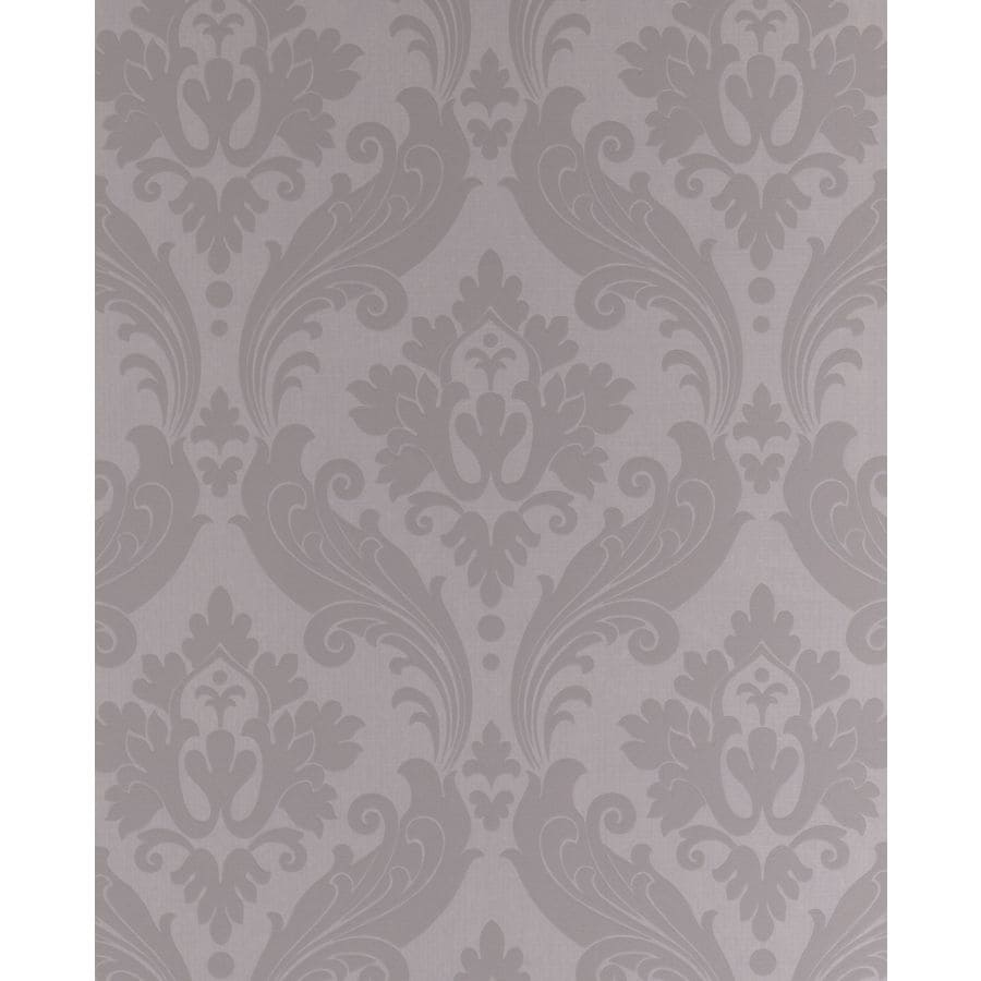 Graham & Brown Soft Grey Paper Damask Wallpaper