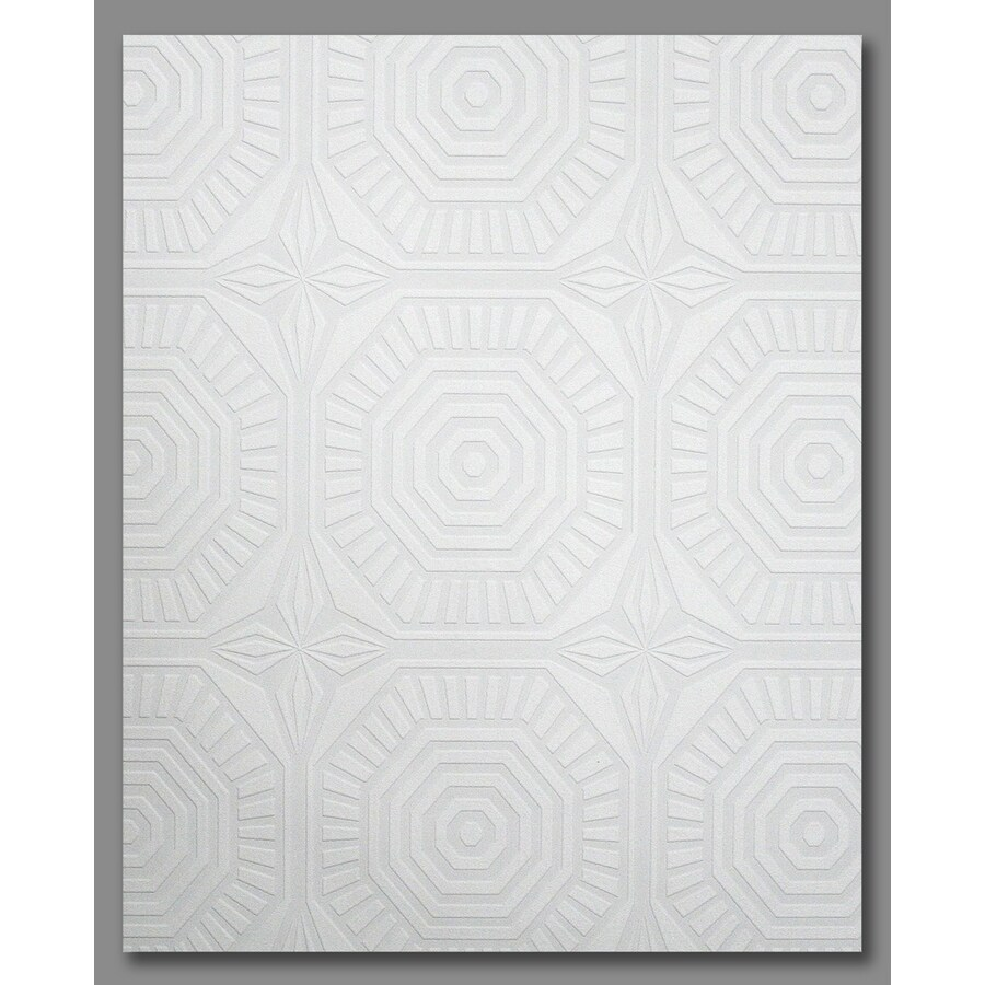 Graham & Brown White Paper Paintable Geometric Wallpaper